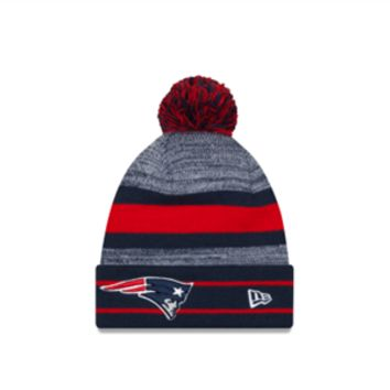 NFL New England Patriots Cuffed Pom Knit Hat