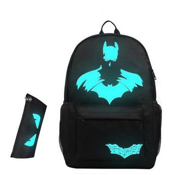 2017 Nightlight Fashion Children Backpack Anime Luminous Teenagers Boys Student Cartoon School Bags Travel Backpacks