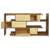 Brave Space Design Stagger Bamboo Server Shelf