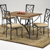Sanford Metal and Oak Dining Set