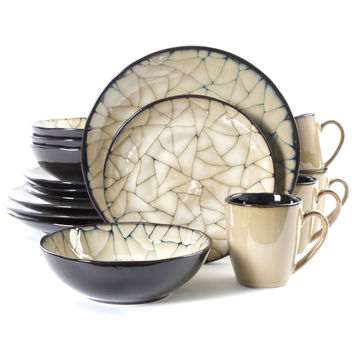 Gibson Elite Zambezi 16-piece Dinnerware Set | Overstock.com Shopping - The Best Deals on Casual Dinnerware