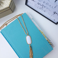 Hot Summer Nights Tassle Necklace