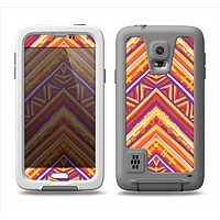 The Red, Yellow and Purple Vibrant Aztec Zigzags Samsung Galaxy S5 LifeProof Fre Case Skin Set