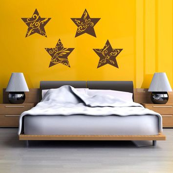 Floral Stars Wall Decal