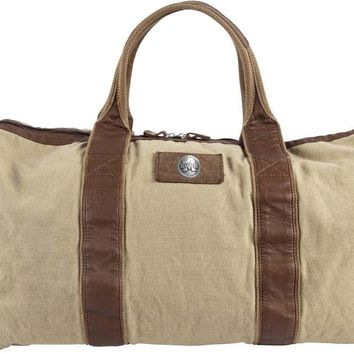 Canyon Outback Mississippi State Bulldogs 21-inch Canvas and Leather Duffel Bag