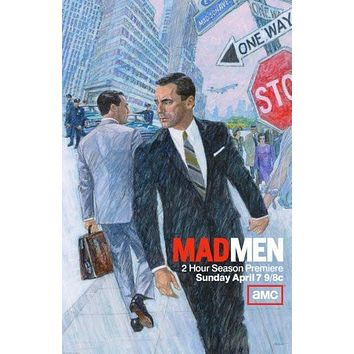 mad men poster Metal Sign Wall Art 8in x 12in