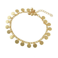 Beach Style Gold Color Anklet Chain Foot Jewelry -SheIn(Sheinside)