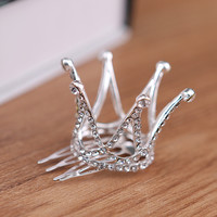 Beautiful Wedding Tiara Sparkling Austrian Crystal Pearl Bridal Hair Combs Hair Jewelry Hair Accessories For Girls 5220