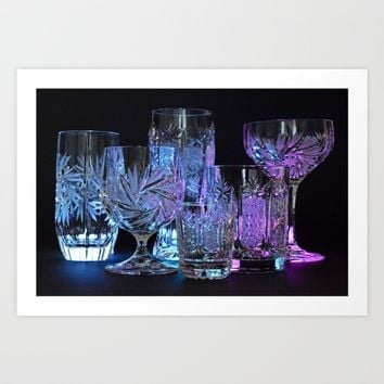 Glasses Art Print by Mixed Imagery