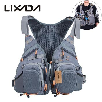 3 In 1 Mesh Fly Fishing Vest and Backpack Breathable Outdoor Fishing Safety Life Jacket Fisherman Utility Vest Safety Device