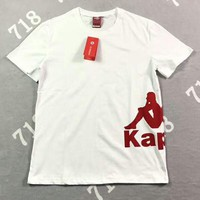 KAPPA Popular Women Men Casual Waist Big Logo Print T-Shirt Top I-AG-CLWM