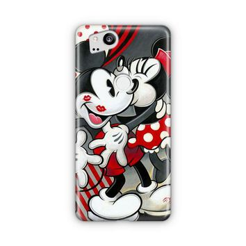 Hugs And Kisses Mickey Minnie Mouse Google Pixel 3 XL Case | Casefantasy