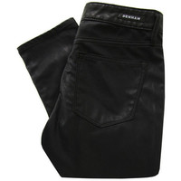 Denham Cleaner SPL Black Faux Leather Jeans