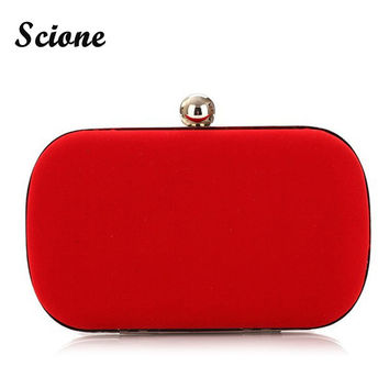 2017 NEW Noble Women Velvet Clutch Purse Cute Small Evening Bags Bridal Handbags BLACK/BLUE/PINK/RED Wedding Shoulder Bag X926