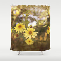 Five Flowers Shower Curtain by Dena Brender Photography