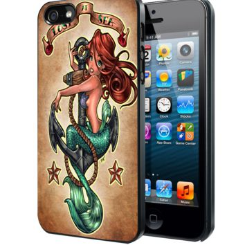The Little Mermaid Tattoos Samsung Galaxy S3 S4 S5 S6 S6 Edge (Mini) Note 2 4 , LG G2 G3, HTC One X S M7 M8 M9 ,Sony Experia Z1 Z2 Case