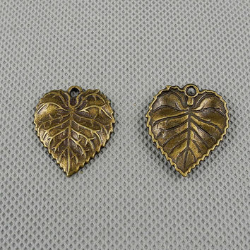1x Making Jewellery Supply Retro Vintage Antique Jewelry Findings Charms Schmuckteile Charme 4-A5277 Tree Leaf