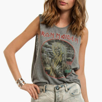 Chaser LA Iron Maiden Muscle T-Shirt $57