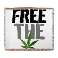 Free The Weed Woven Blanket> 420 Gear Stop