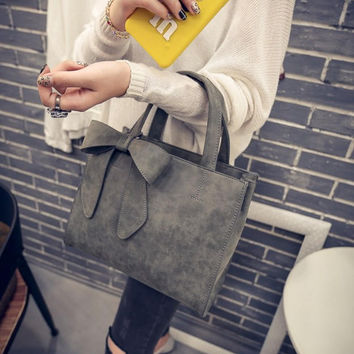 Stylish Leather Tote Purse Handbag Shoulder Bag