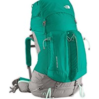 New Woman's The North Face Banchee 65 Multiday Pack- Jaiden Green/ Beach Glass G