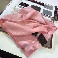 GUCCI women trendy classic twill two-color scarves F-TMWJ-XDH pink