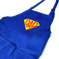 Super Dad Super Hero Embroidered Adjustable Apron