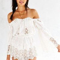 Stone Cold Fox Aden Romper- White