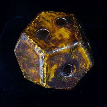 Dodecahedron in Dark Magma