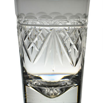 2 Cut Glass Whisky Lowball Tumblers by Tudor Vintage English