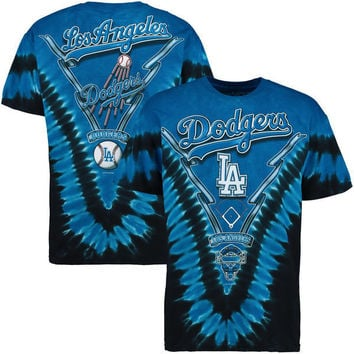 MLB Los Angeles Dodgers Royal Blue V Tie Dye T-Shirt