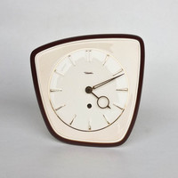 Ceramic Wall Clock by Diehl / Made in Germany / Wind Up Key Mechanical Mechanism  / Working Condition
