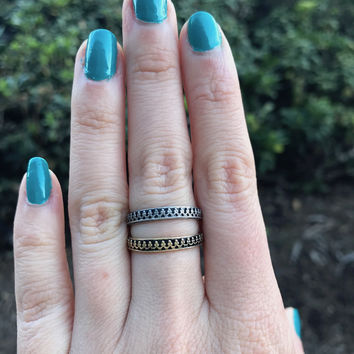 Baroque Crown Ring - Ready to Ship - Size 7