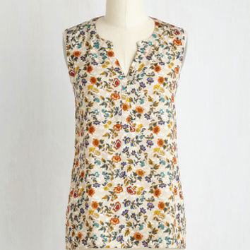 Mid-length Sleeveless Tete-a-Tea Top
