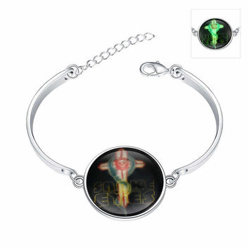 Awesome New Arrival Great Deal Gift Hot Sale Shiny Stylish Accessory Skull Terrible Noctilucent Bracelet [8065788353]