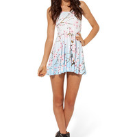 Cherry Blossom Blue Reversible Skater Dress