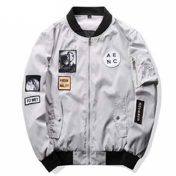 Hip Hop Patch Men's Bomber Jacket