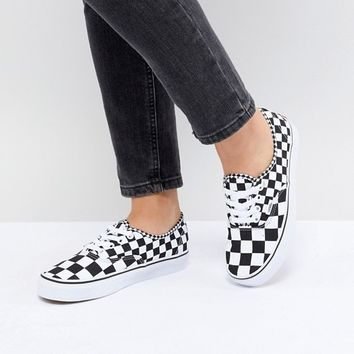 Vans Authentic Trainers In Mixed Checkerboard at asos.com
