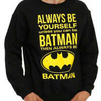 DC Comics Batman Be Yourself Crew Pullover