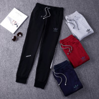 "Simple ""Adidas"" Knit Pattern Large size Casual pants"