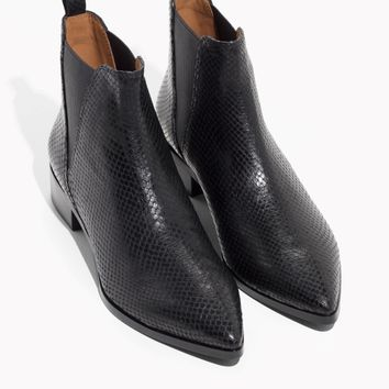 & Other Stories   Snake Embossed Leather Chelsea Boots   Snakeskin