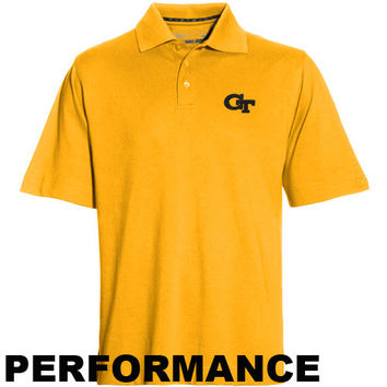 Cutter & Buck Georgia Tech Yellow Jackets Gold DryTec Championship Performance Polo