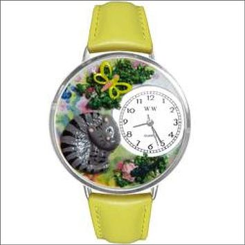 Cat Nap Watch in Silver (Large)