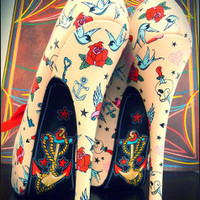 Anchor Or The Sparrow Heels by The Tattoo Shoe