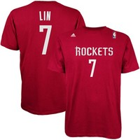 adidas Jeremy Lin Houston Rockets Player T-Shirt - Red