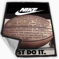 nike basketball just do it and passion Blanket for Kids Blanket, Fleece Blanket Cute and Awesome Blanket for your bedding, Blanket fleece *