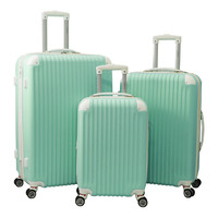 World Traveler ABS Expandable Hardside Spinner 3-piece Spinner Luggage Set | Overstock.com Shopping - The Best Deals on Three-piece Sets