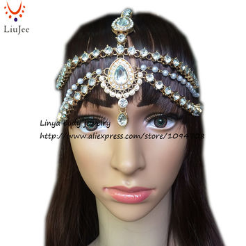 HC-160 Full Crystal Diamante head band hair jewelry wedding bridal head Jewelry, birthday boho