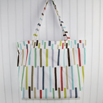 Modern Print Big Farmers Market Bag, Large Tote Bag, Reusable Grocery Bag, MK104