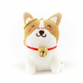 Smiling Corgi Plush Key Chain
